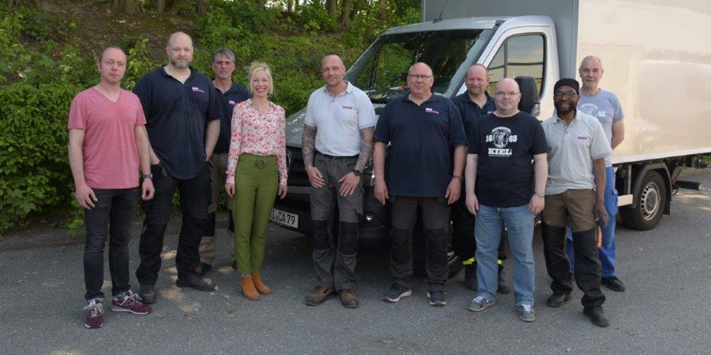 Das Bild zeigt das Team der Zentralen Hausverwaltung.